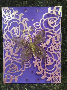 shimmery sparkly butterfly birthday card