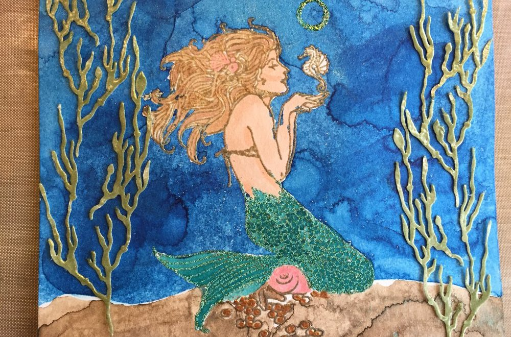 Under the Sea Art Journal Page