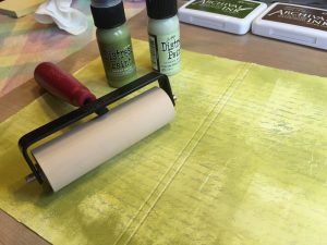 Distress Paint Brayer Art Journal Background