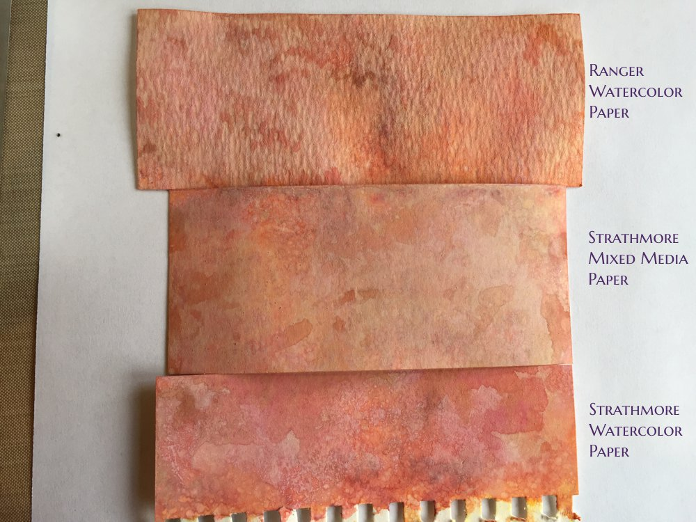 Distress Oxide Ink Watercolor Paper Samples