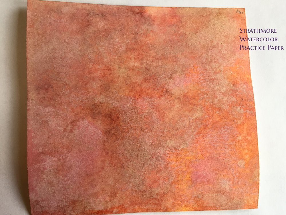 Distress Oxide Ink Watercolor Practice Paper Samples
