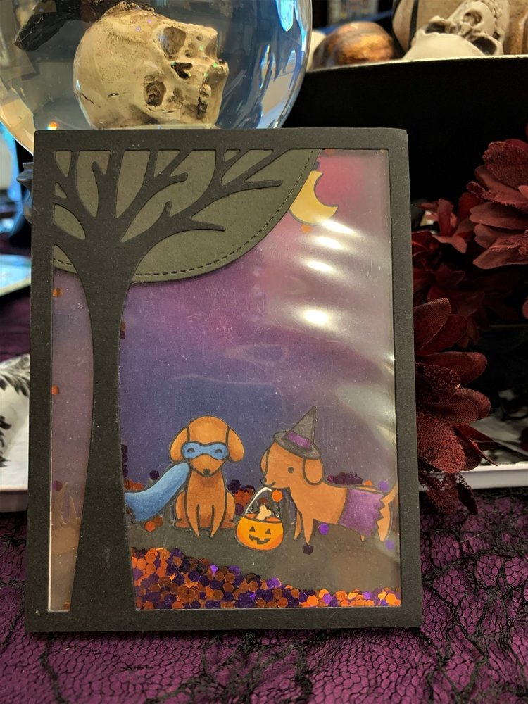 Lawn Fawn Happy Howl-o-ween shaker card