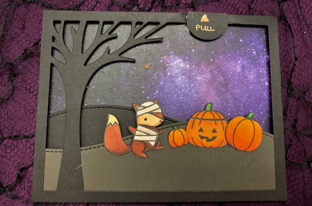 Happy Howl-o-ween Pull-Tab Card