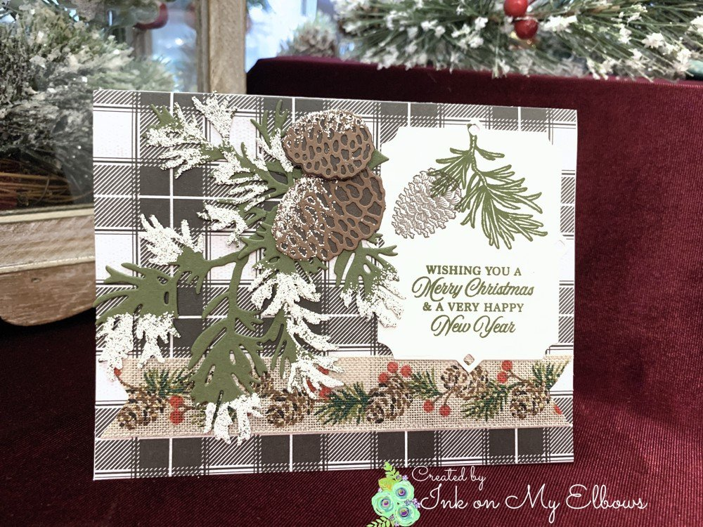 Stampin Up Peaceful Boughs card