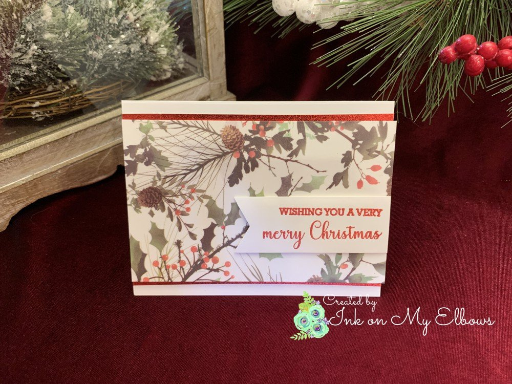 Memory Box Watercolor Woodland Springs Washi card