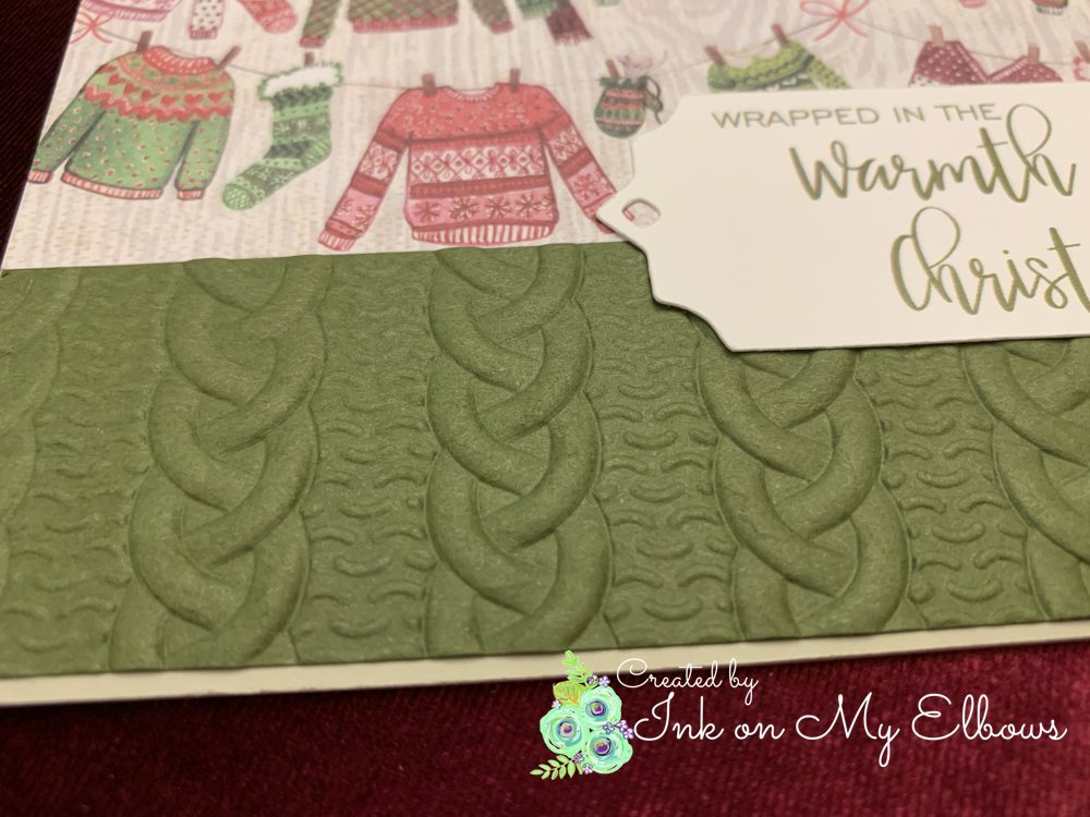 Stampin Up Cable Knit Sweater Embossing folder detail