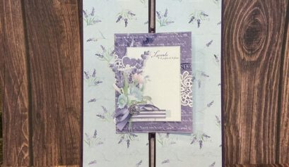Double Gatefold Card using Nitwit Collections Lavender