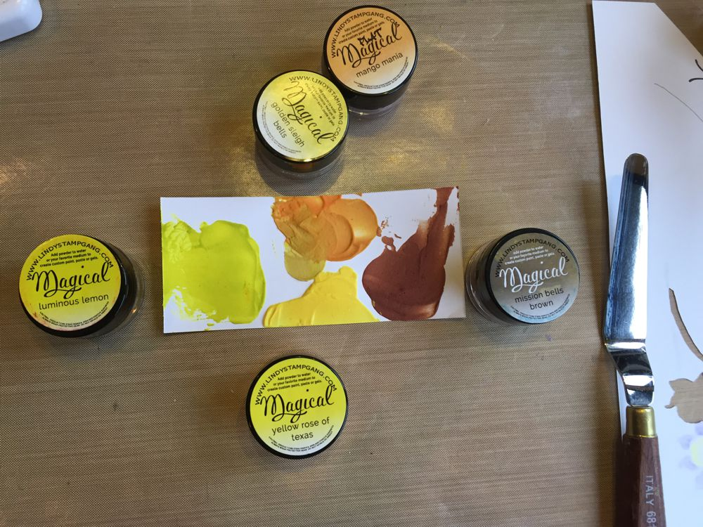 Lindy's Magicals Yellow Samples