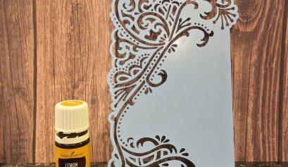 Lemon oil easily removes Versamark residue