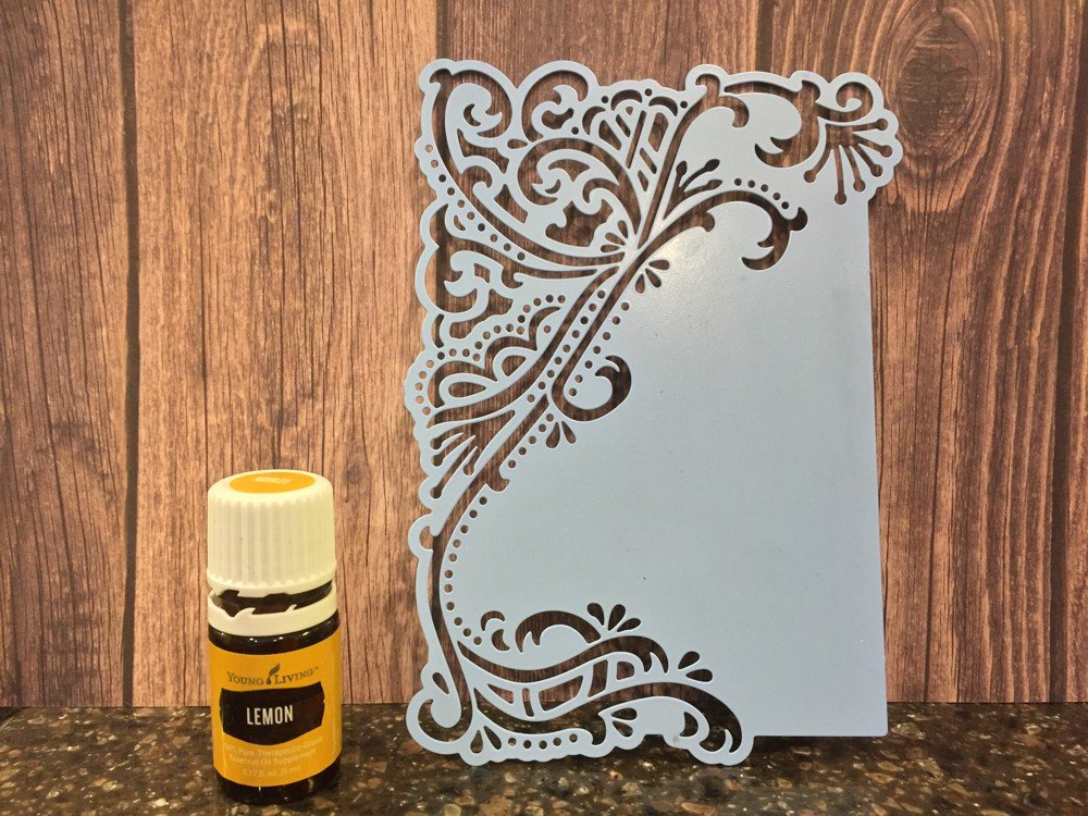 Lemon oil easily removes Versamark residue