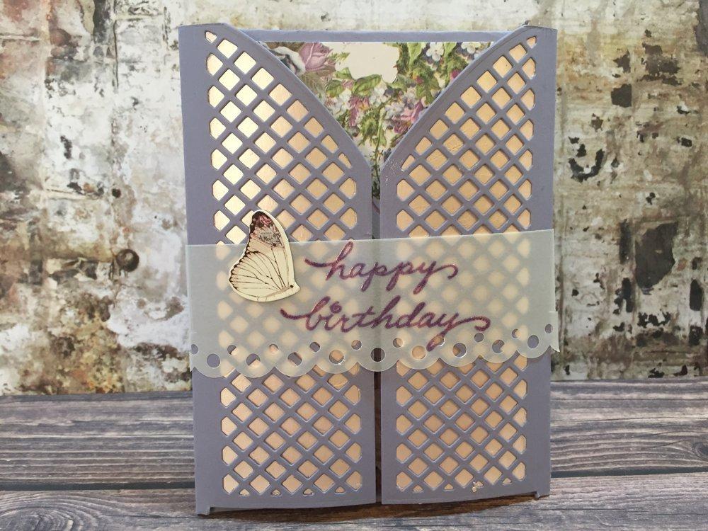 Prima Lavender Gatefold Card