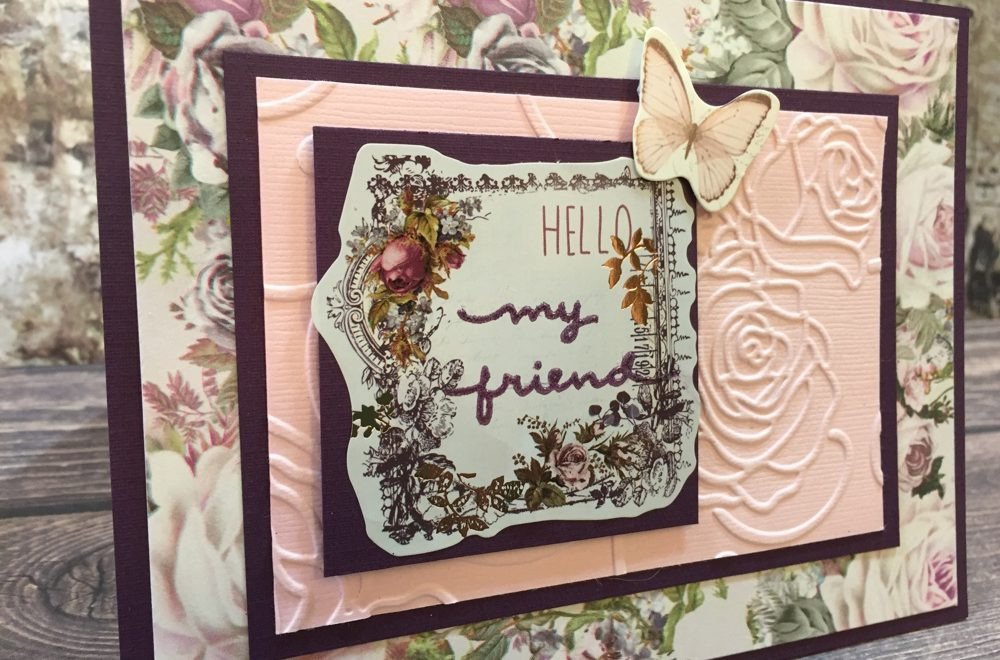 Prima Lavender Hello Friend Card