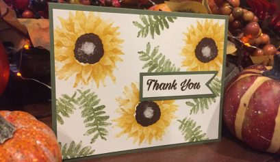 Stampin Up Painted Harvest Sunflower Thank You Card