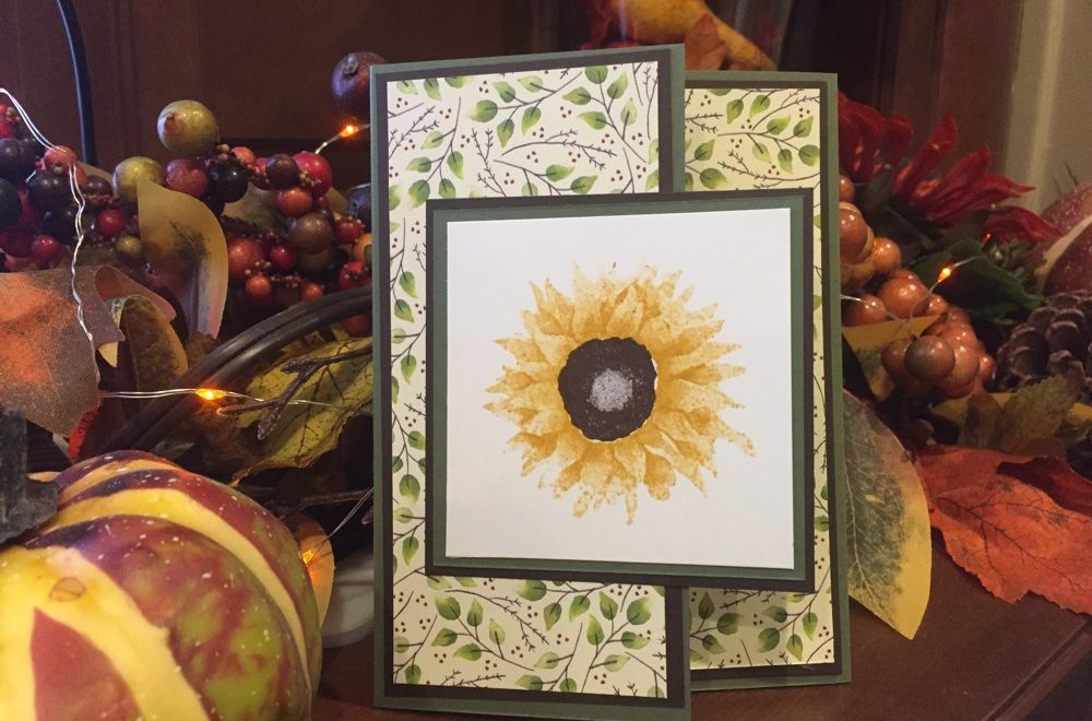 #LoveFallArt Day 3: Painted Harvest Tri-fold Card