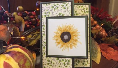 Stampin Up Painted Harvest Tri-fold Card
