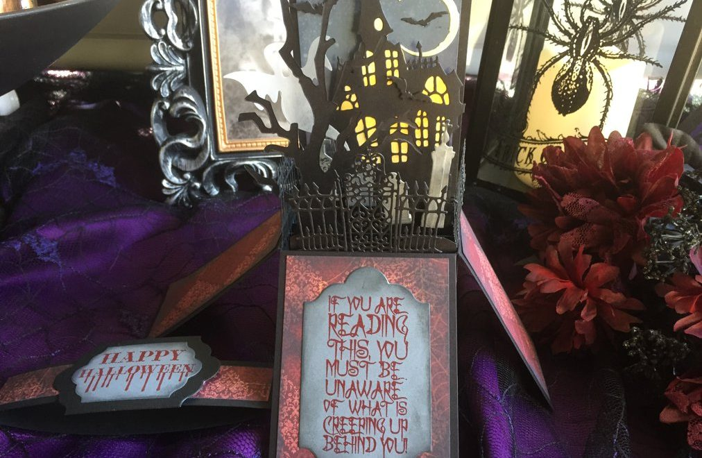 Spooky Halloween Day 3: Village Graveyard Box Card